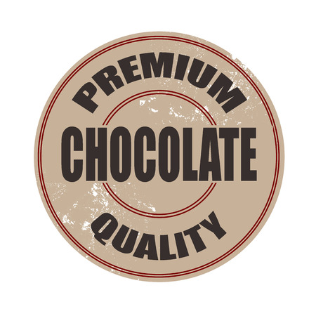 premium quality chocolate grunge stamp with on vector illustration Vector
