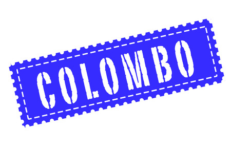 colombo: colombo grunge stamp with on vector illustration Illustration