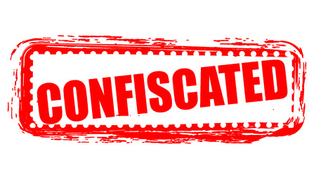 confiscated: confiscated grunge stamp with on vector illustration