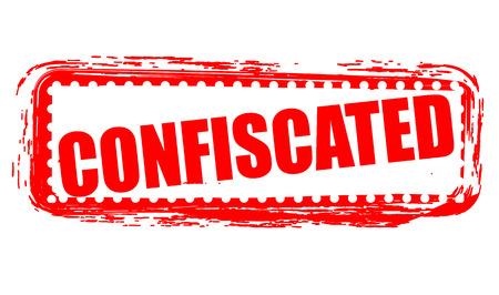 confiscated: confiscati grunge timbro con su illustrazione vettoriale
