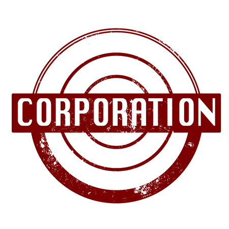corporation grunge stamp with on vector illustration