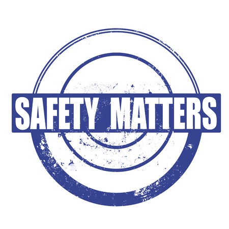 safety matters grunge stamp with on vector illustration Vector
