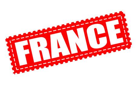 Franciaország grunge bélyegző a vektoros illlustration Illusztráció