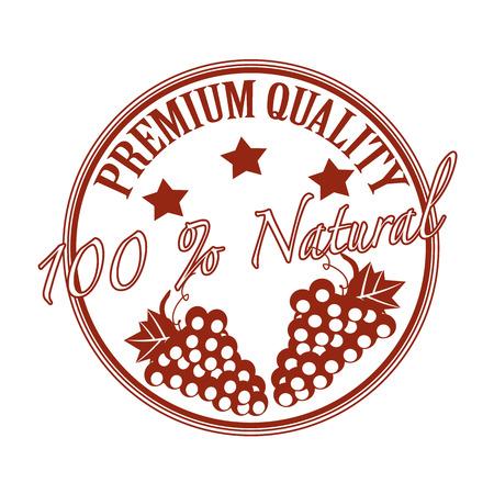 premium quality grunge stamp with on vector illustration Illustration