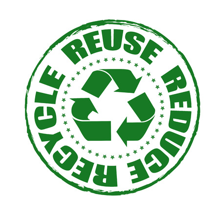 reuse reduce recycle grunge stamp with on vector illustration