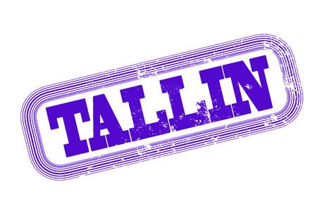 tallin: tallin grunge stamp with on vector illustration Illustration