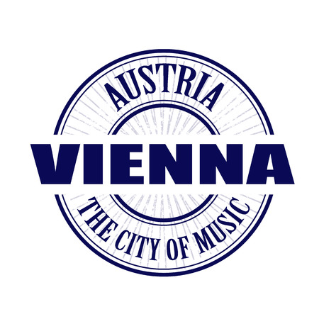 vienna grunge stamp with on vector illustration Vector