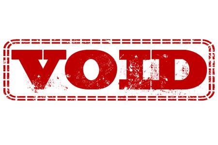 void: void grunge stamp with on vector illustration