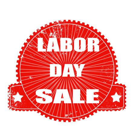 labor day sale grunge stamp with on vector illustration Illustration