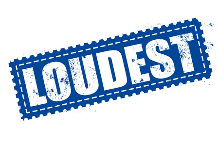 loudest: loudest grunge stamp with on vector illustration