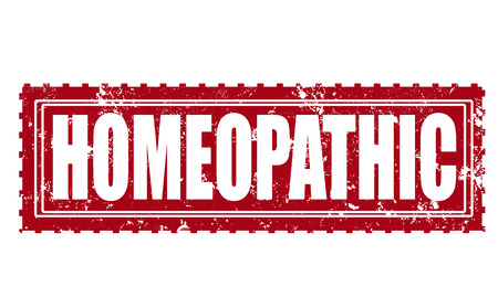 homeopathic: homeopathic grunge stamp with on illustration Illustration
