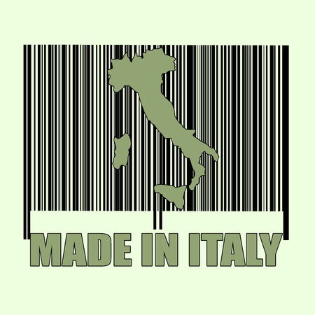codbare made in italy stamp with on illustration Vector