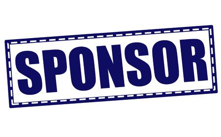 sponsor: sponsor grunge stamp with on illustration