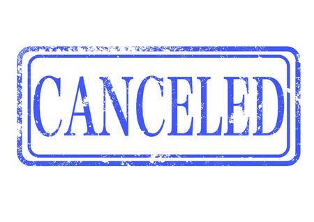 canceled: canceled grunge stamp with on vector illustration