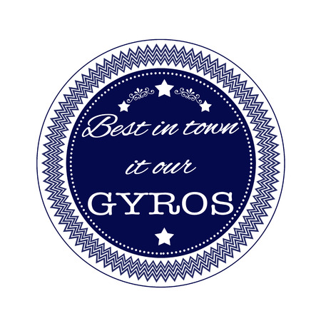 best in town it our gyros grunge stamp with on vector illustration