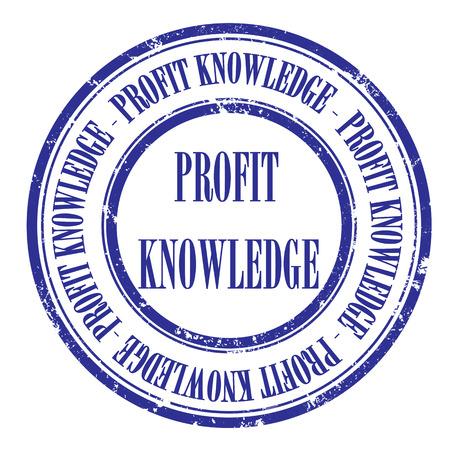 profit knowledge grunge stamp with on vector illustration Illustration