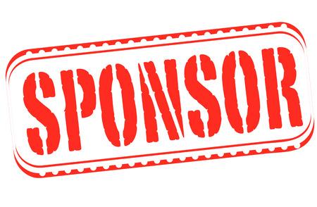 sponsor: sponsor grunge stamp with on vector illustration