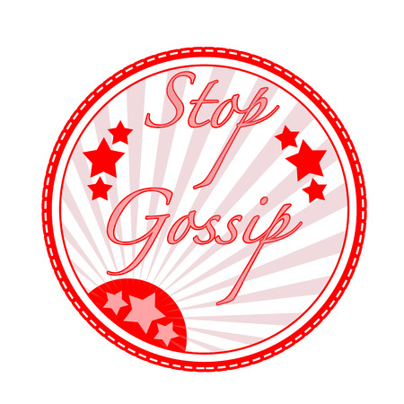 stop gossip grunge stamp with on vector illustration