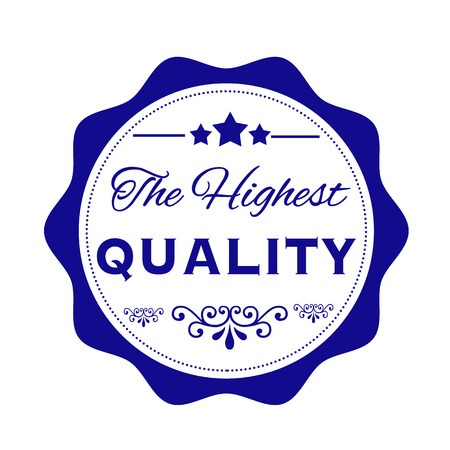 highest: the highest quality grunge stamp with on vector illustration