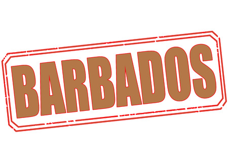 barbados grunge stamp with on vector illustration Vector
