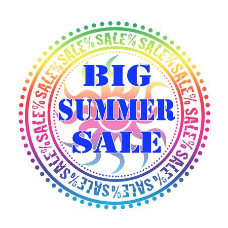 big summer sale grunge stamp with on vector illustration Vector