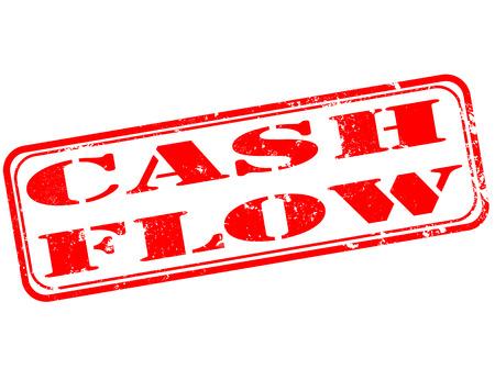 cash flow: cash flow grunge stamp with on vector illustration Illustration