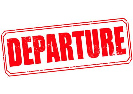 departure grunge stamp with on vector illustration