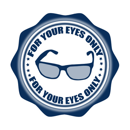 for your eyes only label stamp with on vector illustration Ilustrace