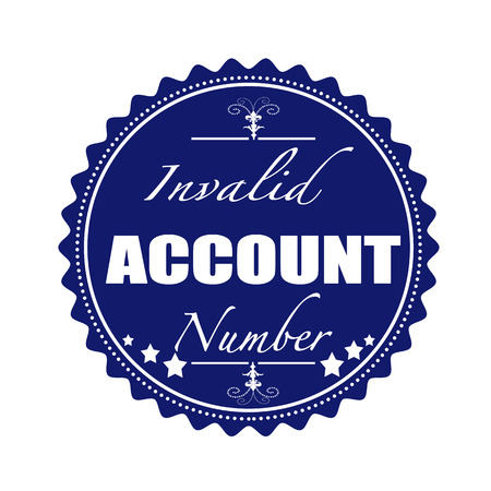 invalid: invalid account grunge stamp with on vector illustration