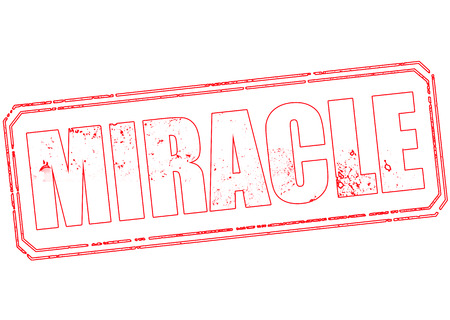 miracle: miracle grunge stamp with on vector illustration Illustration