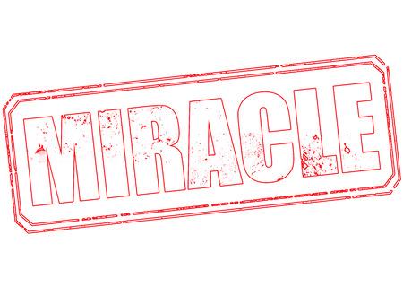 milagre: selo milagre do grunge com a ilustração do vetor