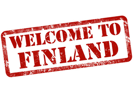 welcome to finland grunge stamp with on vector illustration Vector