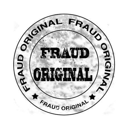 fraud original grunge stamp with on vector illustration