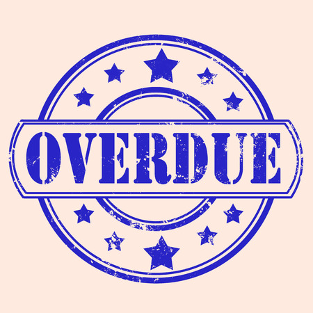 overdue: overdue grunge stamp with on vector illustration