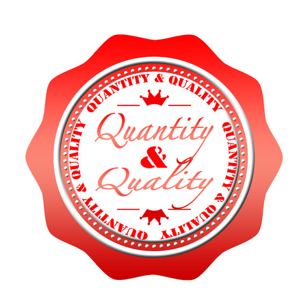 quantity: quantity and quality grunge stamp with on vector illustration Illustration