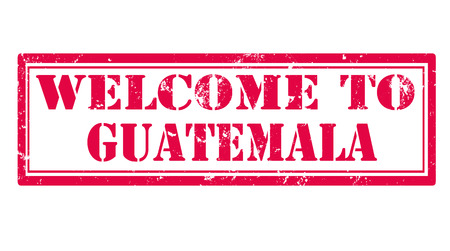 guatemala: welcome to guatemala grunge stamp with on vector illustration