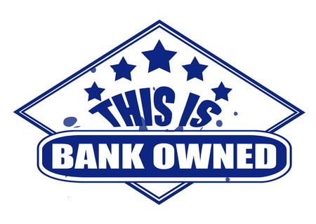 owned: this il bank owned label stamp with on vector illiustration