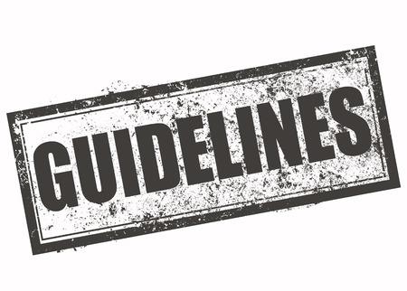 guidelines: guidelines grunge stamp with on vector illustration Illustration