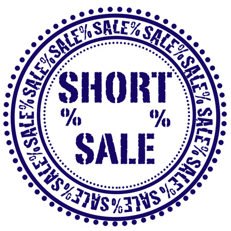 short sale: short sale grunge stamp with on vector illustration