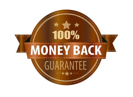 money back label stamp with on vector illustration