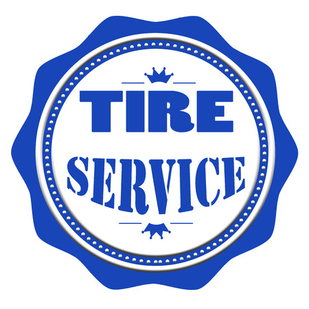 tire imprint: tire service grunge stamp with on vector illustration