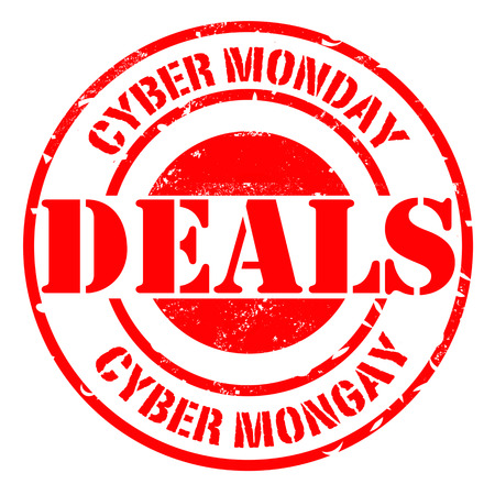 cyber monday deals grunge stamp with on vector illustration Illustration