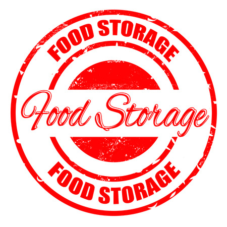 food storage: food storage grunge stamp with on vector illustration