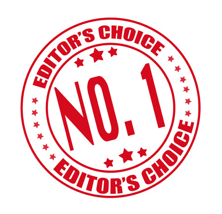 editors: editors choice grunge stamp with on vector illustration