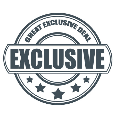 exclusive: great exclusive deal grunge stamp with on vector illustration