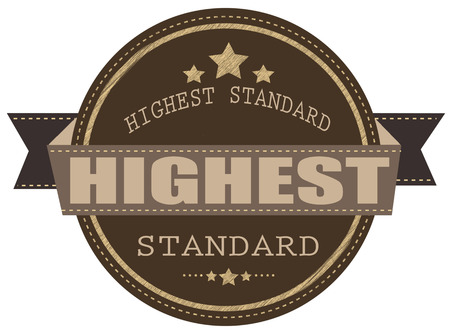 highest: highest standard label stamp with on vector illustration Illustration