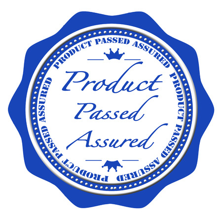 assure: product passed assured grunge stamp with on vector illustration Illustration