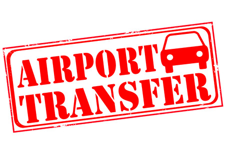 buss: airport transfer grunge stamp wth on vector illustration