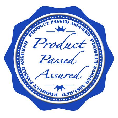 assured: producto pas� asegurada grunge sello de ilustraci�n