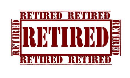 retired: retired grunge stamp illustration